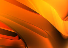 Orange background (abstract). A Study of Form&Colors, rendered in Bryce Stock Image