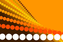 Orange background, abstract form. Orange abstract background, particles and form and spiral Stock Photos