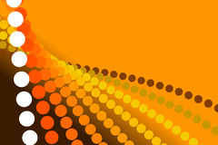 Orange background, abstract form. Orange abstract background, particles and form and spiral Stock Photography