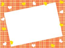 Orange background in a box. Vector. Royalty Free Stock Images