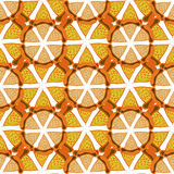 Orange background. Bright seamless pattern . Hand drawn vector for fabric, textile, wrapping and packaging. Royalty Free Stock Photo