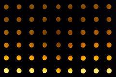Orange background of circle light decorated wall Stock Photos