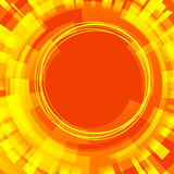Orange background with circle Royalty Free Stock Images