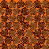 Orange background circles black repetition pattern. Wallpaper abstract element decorative vector illustration