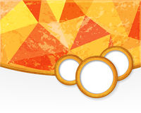 Orange background with circles in grunge style. Royalty Free Stock Image