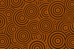 Orange background with a circles Stock Images