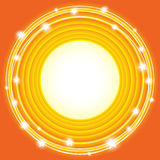 Orange background with circles Stock Photography