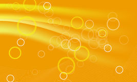 Orange background with circules Stock Photos
