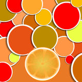Orange background Royalty Free Stock Photos