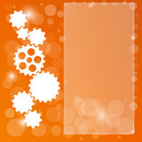 Orange background with cogwheel Royalty Free Stock Photos