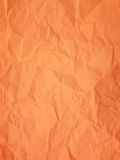 Orange background - crumpled paper Royalty Free Stock Photo