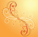 Orange background with curls Royalty Free Stock Photography