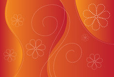 Orange background design Stock Photography