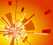 Orange background with explosion Royalty Free Stock Photo