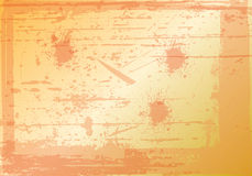 Orange background. Full of splashes and scratches and stains, too Royalty Free Stock Image