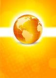 Orange background with globe Stock Photos