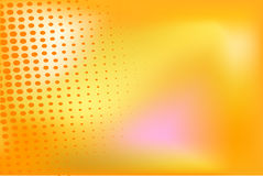 Orange background with halftone elements Stock Photography