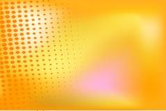 Orange background with halftone elements Stock Photography
