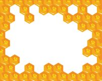 Orange background about honeycombs. Vector Royalty Free Stock Photo
