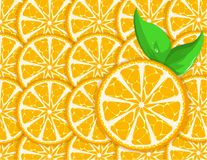 Orange background with leaves Royalty Free Stock Photo