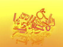 Orange background with letters Royalty Free Stock Image