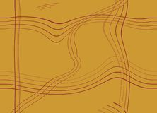 Orange background with lines Royalty Free Stock Photography
