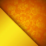 Orange background with ornament Royalty Free Stock Images