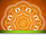 Orange background with ornament Stock Images