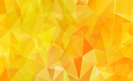 Orange background polygon Stock Photography