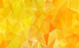 Orange background polygon Stock Photography