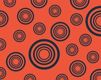Abstract background set of blue circles on orange background vector illustration