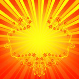 Orange background with rays Royalty Free Stock Photos