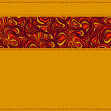 Orange background with seams Royalty Free Stock Photos