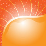 Orange background with small dots Royalty Free Stock Photography
