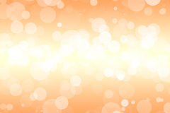 Orange background with soft bubbles Stock Photo