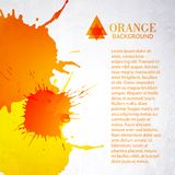 Orange background with splashes Royalty Free Stock Photography