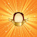Orange background with stars Royalty Free Stock Image