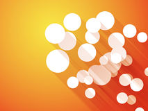 Orange background with white circle long shadows. Abstract orange background with white circle long shadows Royalty Free Stock Photos