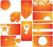 Orange backgrounds with stars Royalty Free Stock Photo