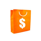 Orange bag Stock Images