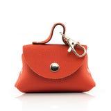 Orange Bag. Isolated On White Background Stock Photos