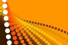 Orange bakgrund, abstrakt form Arkivbild