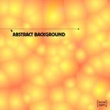 Orange bakgrund för bubblavektorabstrakt begrepp Ljusfläckar Royaltyfri Fotografi