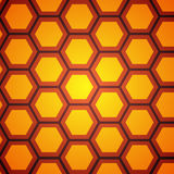 Orange bakgrund för honungskaka, vektorillustration Arkivfoton