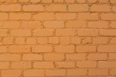Orange bakgrund för textur för tegelstenvägg Abstrakt textur för formgivare Arkivbild