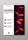 Orange Bakterienkultur auf Abdeckungsdesign Vektor Stockfotos