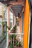 Orange Balkon Lizenzfreie Stockfotografie