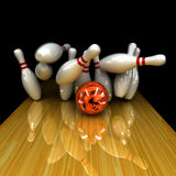 Orange ball does strike! Royalty Free Stock Image