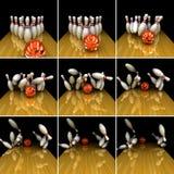 Orange ball does strike! Stock Images