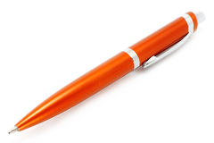 Orange ball pen Royalty Free Stock Photos